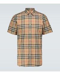 Burberry Camisa de manga corta Caxton - Neutro