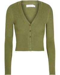 Jonathan Simkhai Ailany Ribbed-knit Cardigan - Green