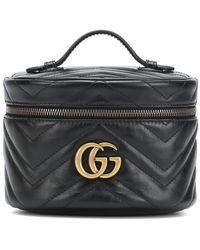 Gucci Porta cosmetici GG Marmont misura piccola - Nero