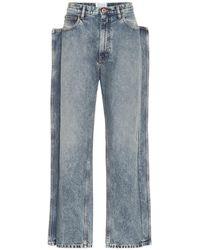 Maison Margiela Jeans a gamba dritta - Blu