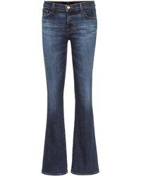 J Brand Jeans flared Sallie de tiro medio - Azul