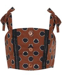 Johanna Ortiz Historical Evidence Cotton Maxi Skirt - Brown