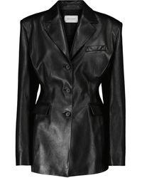 Magda Butrym Leather Blazer - Black