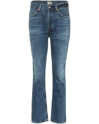 Citizens of Humanity Charlotte High-rise Straight Jeans - Blue