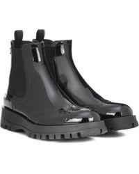 Prada Chelsea Boots aus Lackleder - Schwarz