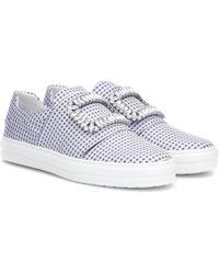 Roger Vivier Sneaky Viv Checked Sneakers - Blue