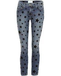 Current/Elliott Jeans skinny The Stiletto a stampa - Blu