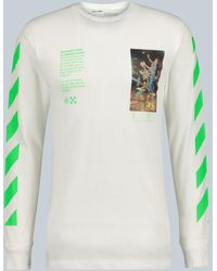 Off-White c/o Virgil Abloh T-shirt manches longues Pascal Painting - Blanc