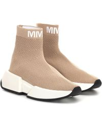 MM6 by Maison Martin Margiela High-top Sock Sneakers - Natural