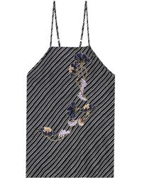Carven - Embroidered Silk Top - Lyst