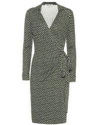 Diane von Furstenberg Abito a portafoglio Jeanne Two in seta - Verde