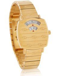 Gucci Uhr Grip 27mm aus Edelstahl - Mettallic