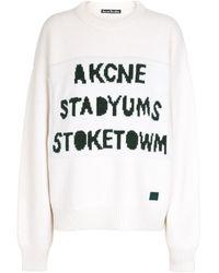 Acne Studios Jersey de lana - Blanco