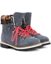 Mr & Mrs Italy | Fur-lined Suede Ankle Boots | Lyst