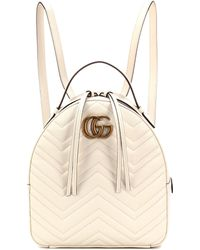 27ea2661220f Lyst - Gucci Gg Marmont Matelassé Leather Backpack in Black