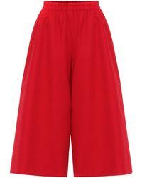 Gucci Culottes aus Wolle und Seide - Rot