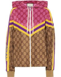 Gucci Gg Hooded Jacket - Multicolor