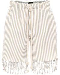 Loewe - Short en coton imprimé à franges x Paula's Ibiza - Lyst