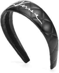 Versace Faux-leather Headband - Black