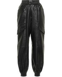 Materiel Tbilisi Pantalones de piel sintética - Negro