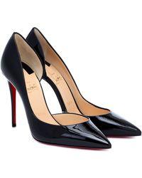 Christian Louboutin Iriza 100 Patent-leather Pumps - Black