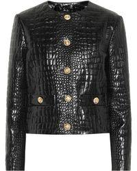 a7ed45b959ca Gucci Pony Skin Jacket in Black - Lyst