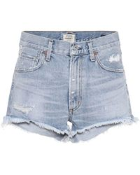 Citizens of Humanity - Danielle Mid-rise Denim Shorts - Lyst