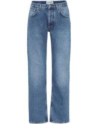 Loewe High-rise Wide-leg Jeans - Blue