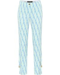 Versace Exclusive To Mytheresa – Printed High-rise Trousers - Green