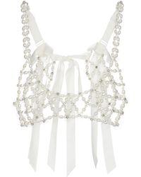 Simone Rocha Verziertes Bralette - Weiß