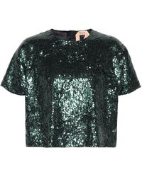 N°21 Sequined Top - Green