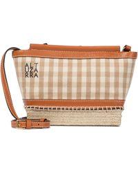 Altuzarra Espadrille Mini Gingham Crossbody Bag - Natural