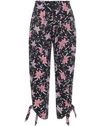 Isabel Marant Pantalones Gaviao de algodón - Negro