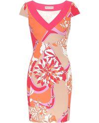 Emilio Pucci Printed Stretch-crêpe Dress - Multicolour