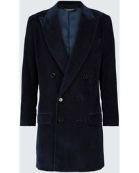 Dolce & Gabbana Double-breasted Overcoat - Blue