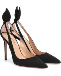 Aquazzura Bow Tie Court Shoes 105mm - Black