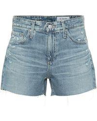 AG Jeans High-Rise Jeansshorts Hailey - Blau