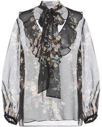 Zimmermann | Floral-printed Silk Blouse | Lyst