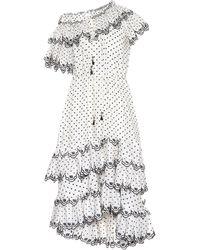 Zimmermann - Jaya Dotted Linen Dress - Lyst