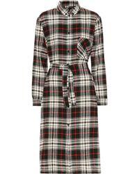 Woolrich Checked Wool-blend Shirtdress - Black