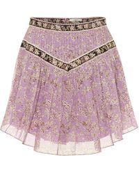 Étoile Isabel Marant Mini-jupe Valerie imprimée en coton - Violet