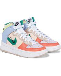 Nike Zapatillas Dunk High Rebel de piel - Multicolor