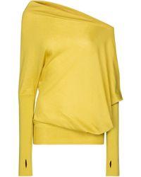 Tom Ford Pullover aus Kaschmir und Seide - Gelb