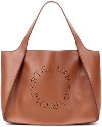 Stella McCartney Stella Logo Tote Bag - Brown
