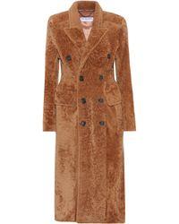 Balenciaga Shearling Coat - Brown
