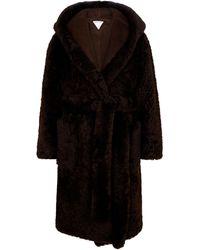 Bottega Veneta Shearling Wrap Coat - Brown