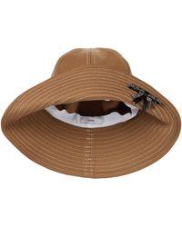 Erdem Embellished Wool Bucket Hat - Natural