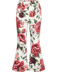 Dolce & Gabbana Cropped-Hose aus Bauwmwolle - Rot