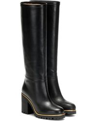 Charlotte Olympia Barbara Leather Knee-high Boots - Black