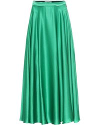 MSGM Silk-blend Satin Maxi Skirt - Green